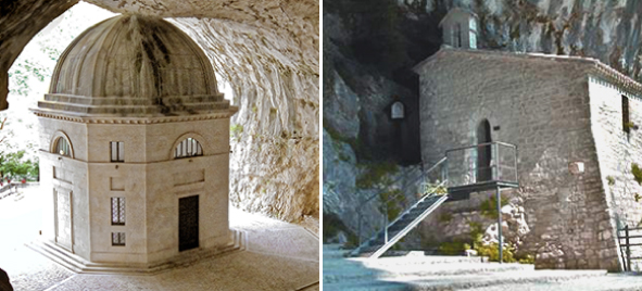 tempietto del valadier e monastero santa maria infra saxa